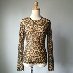 Vintage Express cheetah animal print long sleeve